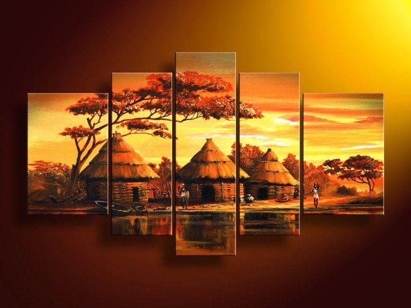 Coucher de soleil - Dessin paysage africain ...