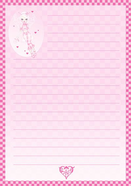 papier à lettre bebe